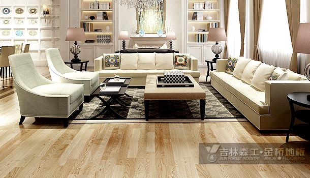 三层实木复合地板——自然风情(简欧风格)