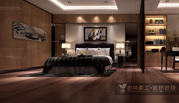 三层实木复合地板——菠萝格至尊(现代简约风格)